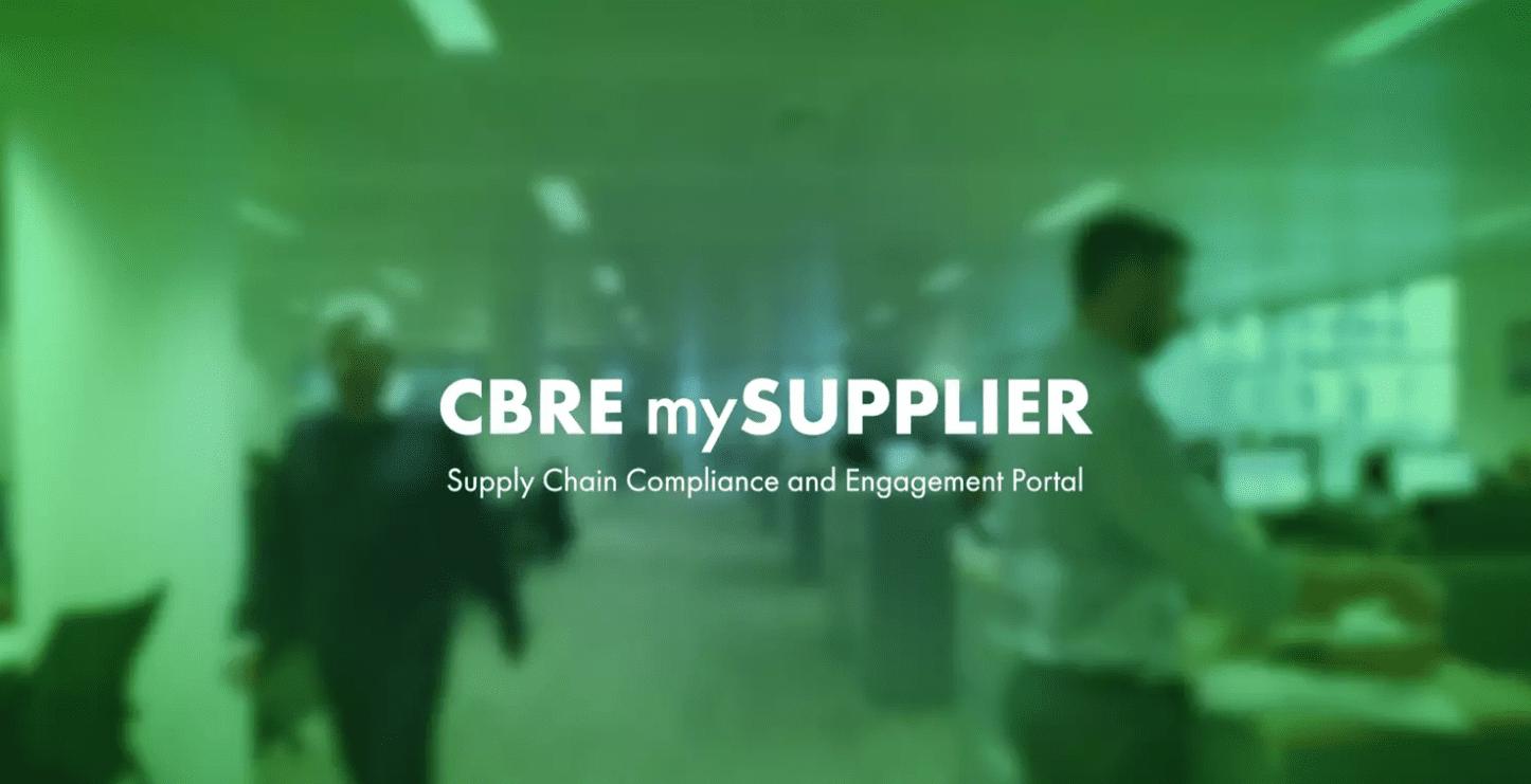 CBRE Supplier Portal Testimonial